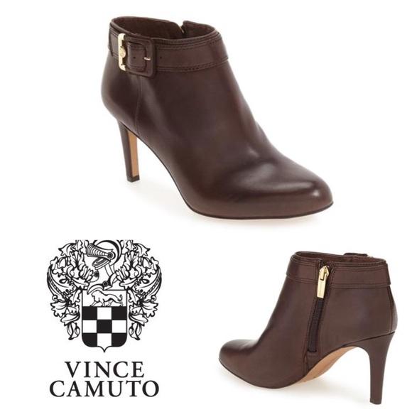 ee4ec4dea04 New Vince Camuto Brown Chrissa Booties - Size 8